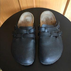 Birkenstock Birki's Black Leather Clog